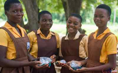 Kyereh Foundation gives Volta school girls menstrual cups