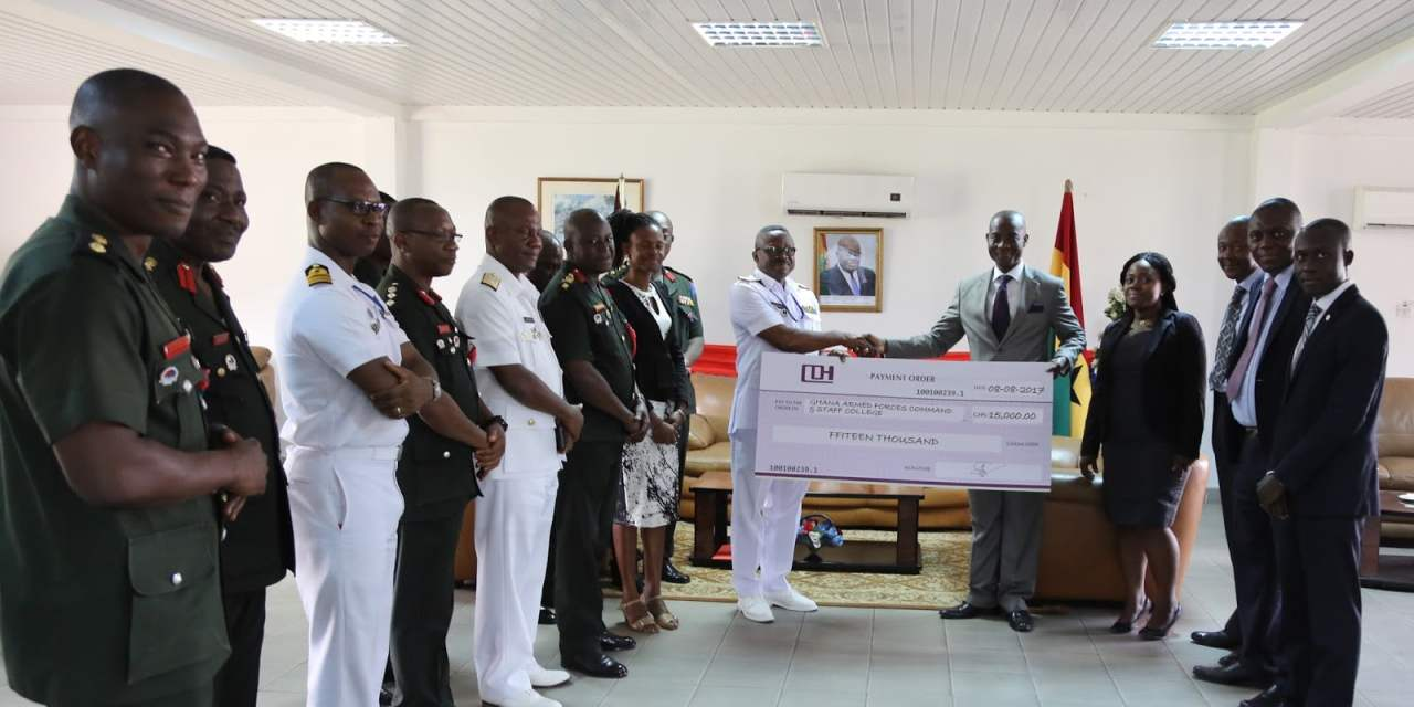 Armed Forces Command and Staff College get GHC15K from CDH