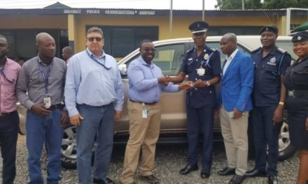 Newmont Ghana donates vehicle to Airport Police
