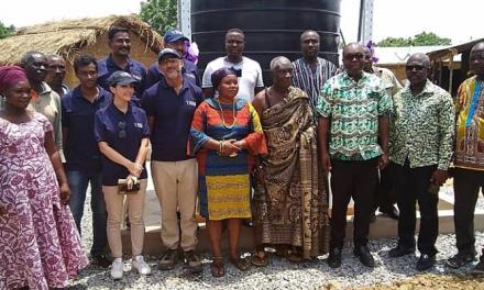 Project Maji builds solar-powered borehole water for Tefle