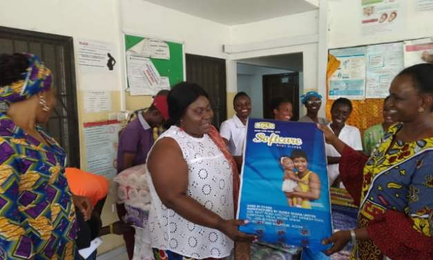 Frema Opare gives to Legon Hospital on Nkrumah Day