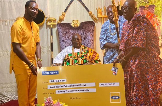 MTN gives GH¢20,000 to Awomefia Education Fund