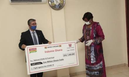 Indomie Ghana donates GHS1M to COVID-19 Fund