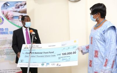 SDA Church Ghana gives GHS100k to COVID-19 Fund