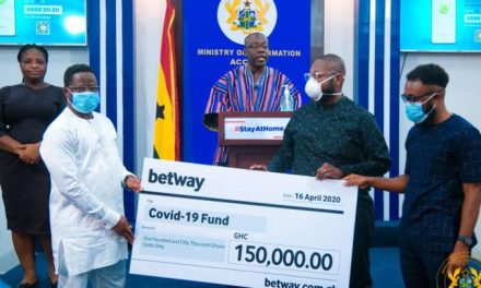 Betway donates GHS150k to COVID-19 Trust Fund