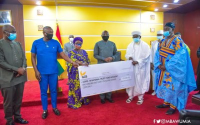 Muslim Community give GHS130k to COVID-19 Fund