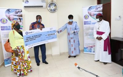 Resurrection Power gives COVID-19 Fund GHS100k