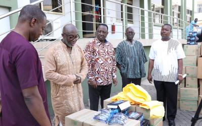 GIPC gives PPE to health workers for COVID-19 fight