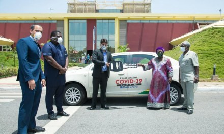 MAC Ghana gives 10 Chevy Cobalts to Covid-19 Fund