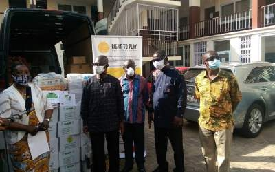 Right To Play donates PPE, school supplies to GES