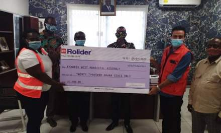 Rolider gives COVID-19 support to Ayawaso West