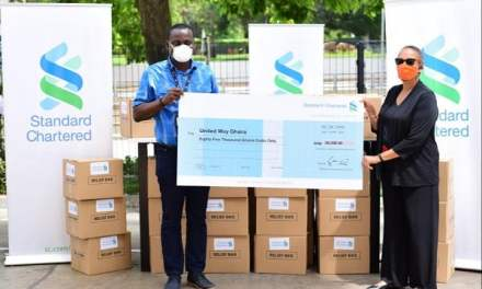 StanChart assists vulnerable families in Ayawaso