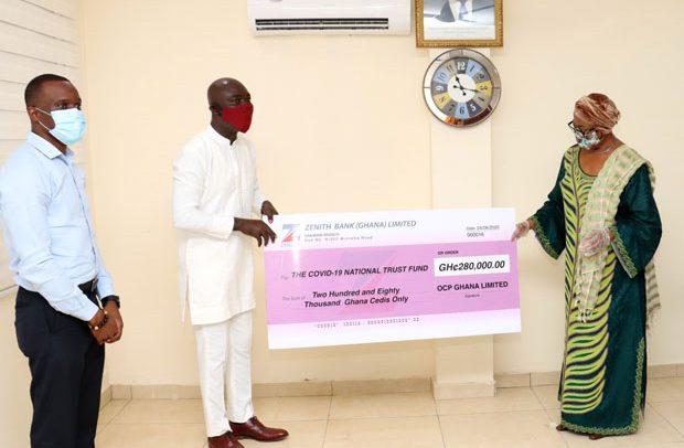 OCP Africa Ghana gives GHS280k to COVID-19 Fund