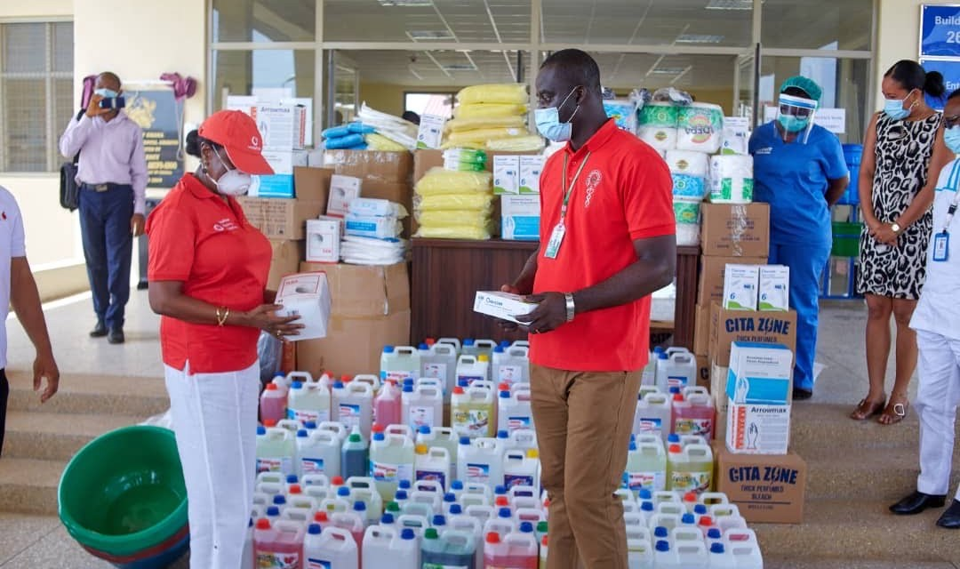 Vodafone Ghana donates PPE to Accra Regional Hospital to help protect frontline workers