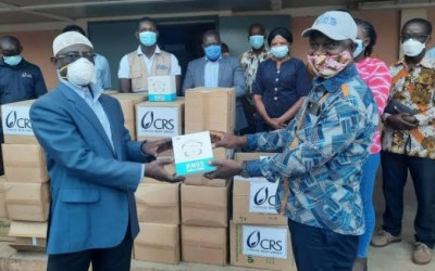 Catholic Relief Services (CRS) donates $8,000 worth of PPE to Tamale Teaching Hospital