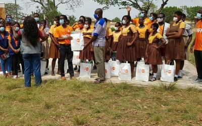 Abiola Bawuah Foundation, YLFP reach out to female students at Odumse Basic School