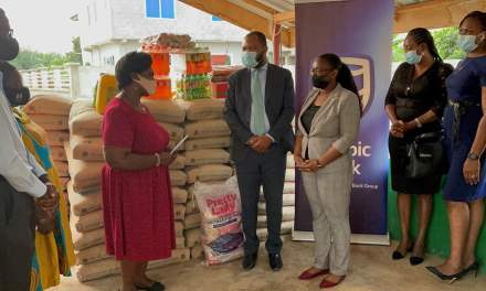 Stanbic Ghana gives Potter's Village 200 Bags of cement to support accommodation project