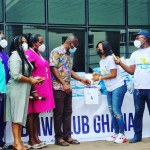 BMW Club Ghana donates to frontline workers at UG Medical Center, Ga East Municipal Hospital
