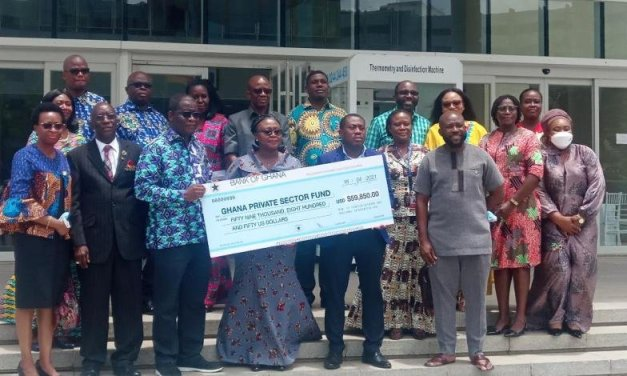 Ghana Mission in Washington DC, others raise $59,850 for Ghana COVID-19 Private Sector Fund
