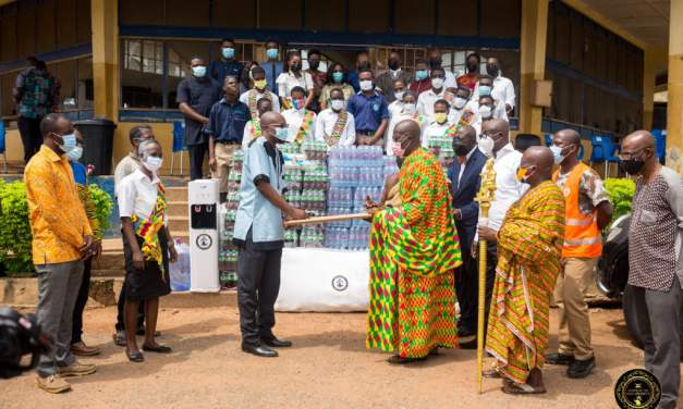 Oseadeeyo Kwasi Akuffo III gives health, hygiene supplies to Akropong School for the Blind, others