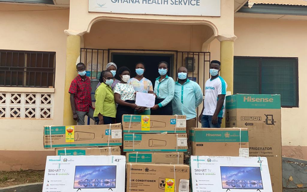 Hisense Ghana gives Amrahia Health Centre set of equipment to support healthcare delivery