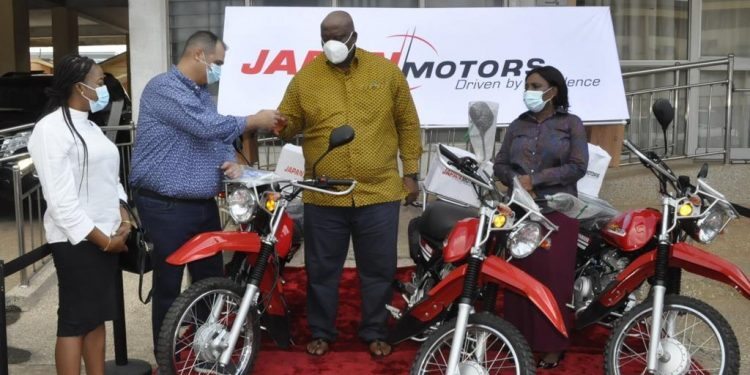 Japan Motors donates Yamaha motorbikes to support 'Let's Make Accra Work' campaign'