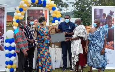 Abosso Gold Field supports 14 host communities with school furniture, equipment and supplies