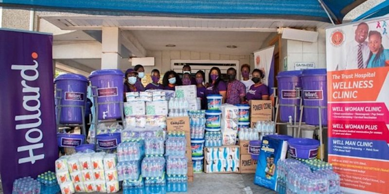 Hollard Ghana employees donate supplies to new mothers at Trust Mother & Child Hospital