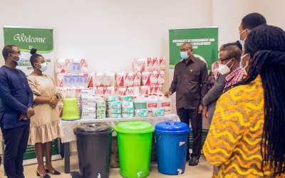 Upfield Foods Ghana gives PPE, sanitary supplies to University of Environment & Sustainable Devpt