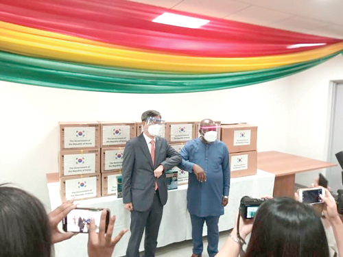 South Korean Government gives $50,000 worth of face shields to support COVID-19 fight in Ghana
