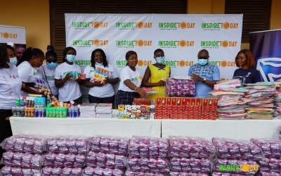 Stanbic Ghana, Inspire Today, give hygiene supplies to 1,000 teen girls in Gbawe Cluster of Schools