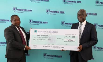 Prudential Bank gives GHS50,000 to support  Ghana School of Law infrastructure expansion