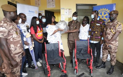 Rotary Clubs of Accra, Cape Coast-Central assist Ankaful Prison with reno, drugs, equipment