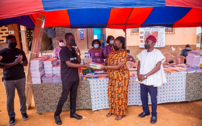 Dentsu Ghana gives computers, projectors and school supplies to Tesano Cluster of Schools