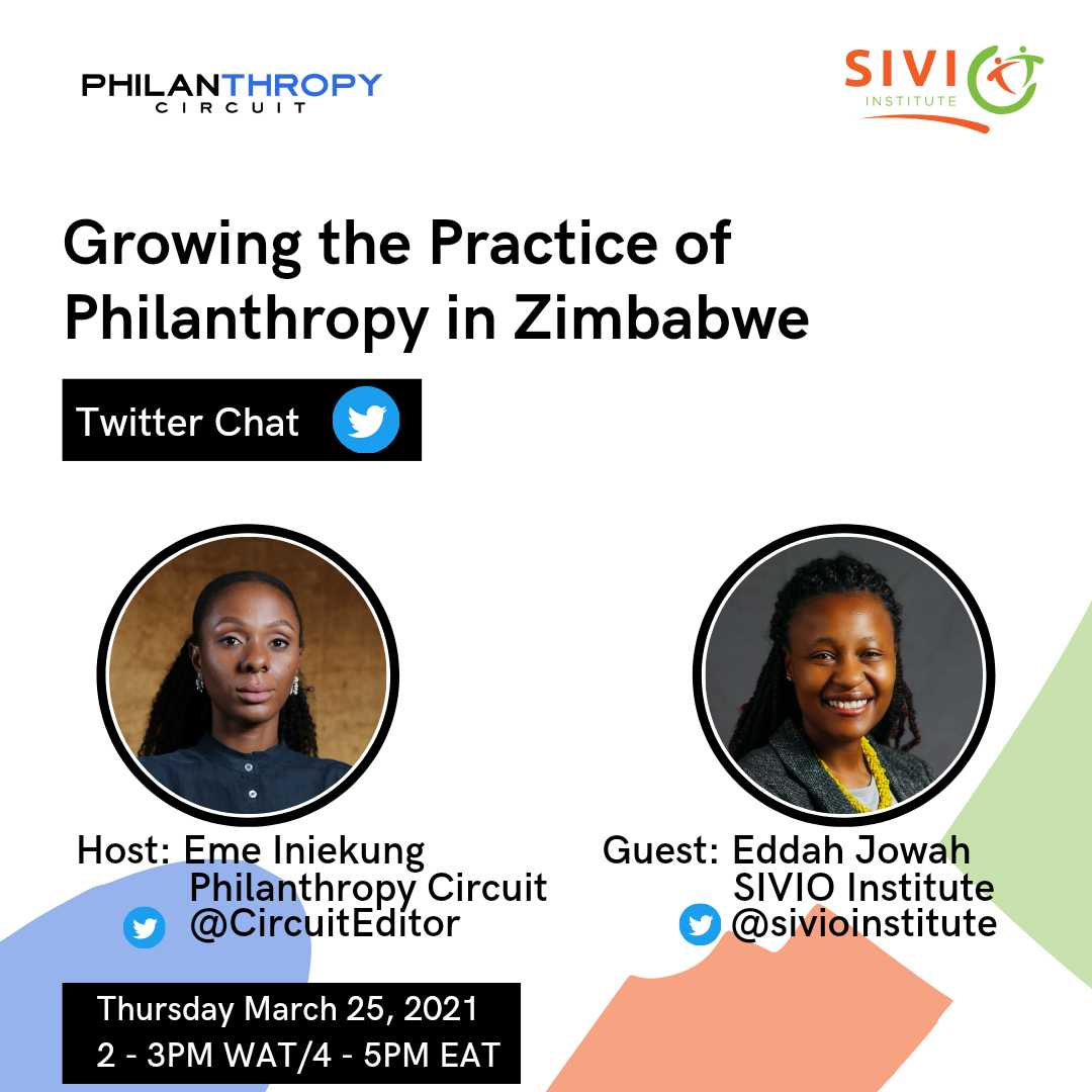 Philanthropy Circuit - Twitter Chat - March 2021 - Growing the Practice of Philanthropy in Zimbabwe