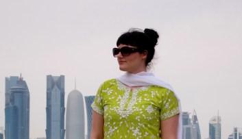 Caliopy Glaros in Doha, Qatar