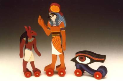 Seth, Horus, and the Eye of Horus. From the artist's website.