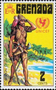 Qui A écrit Robinson Crusoé : écrit, robinson, crusoé, Robinson, Crusoé,, Daniel, Defoe., PHILATÉLIE