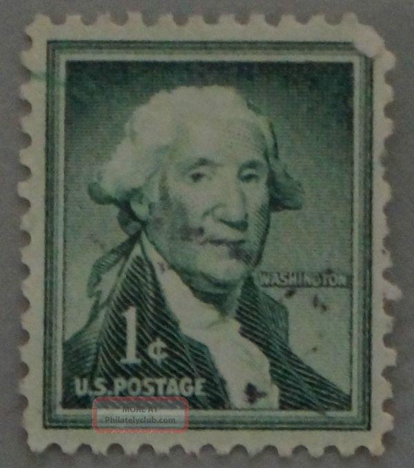 Scott 1031 1 Cent George Washington United States Postage
