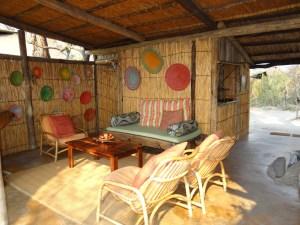 Safari camp lounge at Oddballs Okavango Delta Botswana