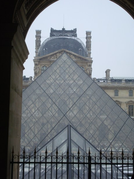 Paris Louvre courtyard pyramid entrance