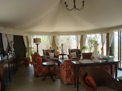 Elephant Camp - reception area in main tent