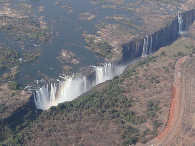 Victoria Falls from above (low water season)