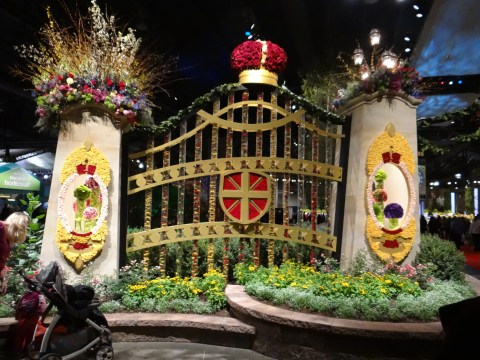entry gate at the Philadelphia Flower Show