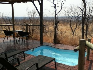 My private deck at Elephant Camp