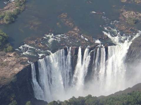 Victoria Falls Helicopter tour view