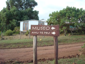 The inn was close to a Moai site and museum