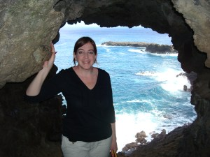 Holding on in the cave window