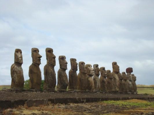 Ahu Tongariki- 15 Moai of Easter Island Statues