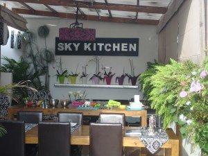 Outdoor seating area at SkyKitchen